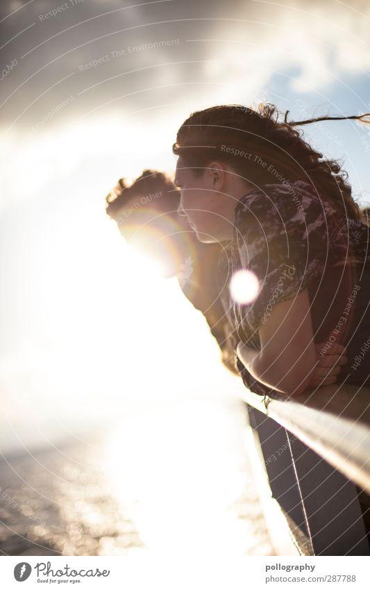 shiny (2) Mensch Frau Mann Jugendliche Ferien & Urlaub & Reisen Sonne Meer Erholung Erwachsene Ferne Junge Frau Leben feminin Freiheit 18-30 Jahre Freundschaft