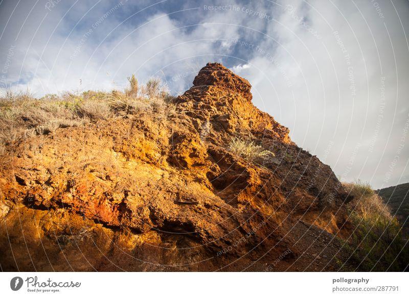 Eiserner Hut Himmel Natur Sommer Pflanze rot Wolken Landschaft Gras Sand Stein Felsen orange Erde Schönes Wetter Sträucher Hügel