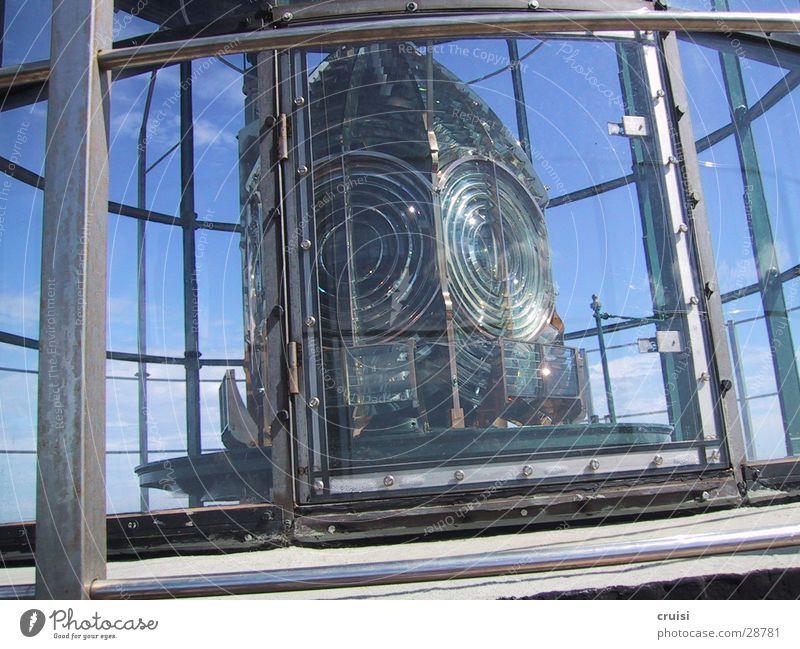Leuchtfeuer Lampe Glas obskur Strahlung Leuchtturm Warnhinweis Lichtstrahl Cote d'Azur St. Tropez