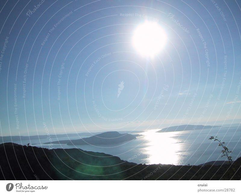 Sonnenaufgang Wasser Sonne Sommer Ferien & Urlaub & Reisen Insel Kroatien Inselkette