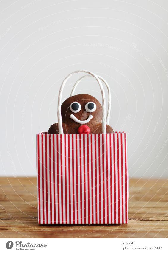 selbstgebackener Traummann zu verschenken Mann Weihnachten & Advent rot Essen Lebensmittel braun maskulin Ernährung Kochen & Garen & Backen Geschenk Süßwaren Dessert Backwaren Tüte schenken Lebkuchen