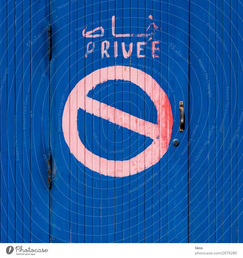 Privat Tür Schriftzeichen Hinweisschild Warnhinweis Verbote privat Marokko