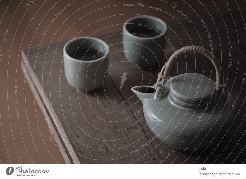 tee Getränk Heißgetränk Tee Tasse Teekanne ästhetisch exotisch Zusammensein Steingut Porzellan Asien Farbfoto Innenaufnahme Menschenleer Tag