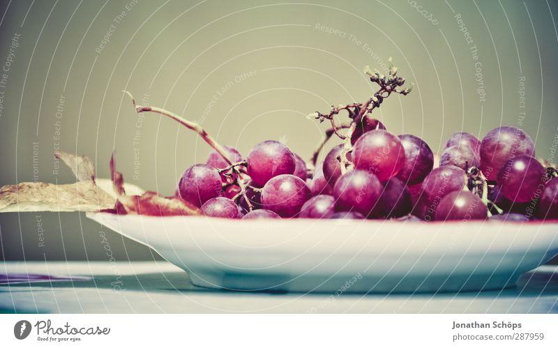 Weintraubenteller Gesunde Ernährung rot Foodfotografie Lebensmittel Frucht Ernährung genießen violett Wein lecker Wein Bioprodukte Dessert Teller Vegetarische Ernährung Abendessen