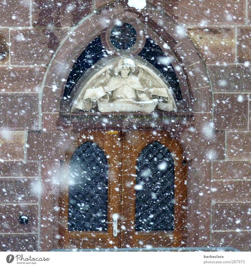 Wichtelpopichtel für Helgi | Das 6. Türchen Weihnachten & Advent ruhig Winter Wand Schnee Mauer Architektur Religion & Glaube Stein Stimmung Schneefall Fassade