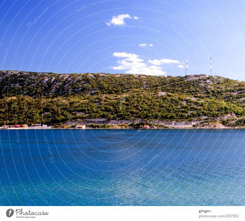 Wichtelpopichtel für Foxi66   Ein bisschen Sommerurlaubsfeeling Himmel Natur blau Wasser grün Sommer Meer Wolken ruhig Landschaft Umwelt Berge u. Gebirge Wärme Küste Felsen braun