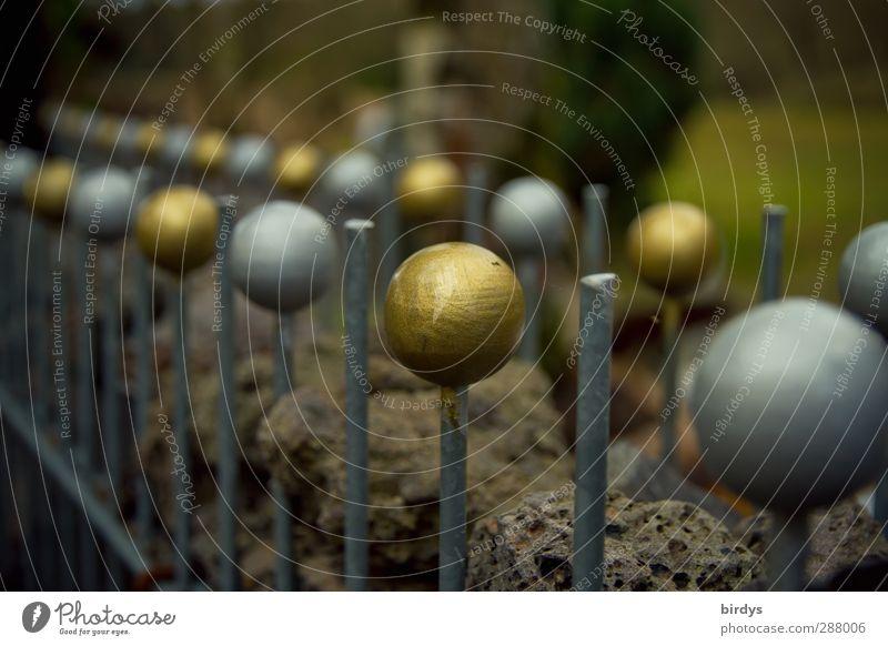 Zaunkönigskrone Stil gold glänzend elegant leuchten Dekoration & Verzierung ästhetisch viele rund Kreativität Idee Kugel Reihe Reichtum silber aufgereiht