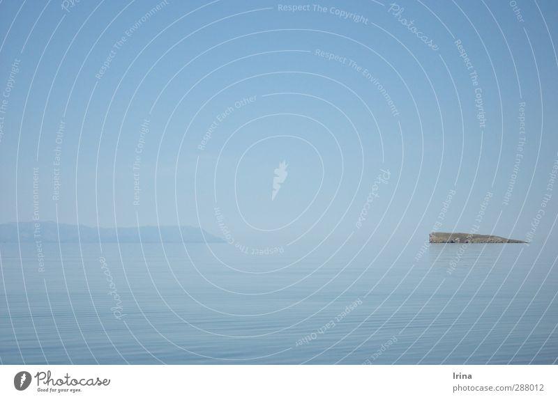 Baikal | See ohne Horizont Landschaft Urelemente Wasser Himmel Wolkenloser Himmel Sommer Schönes Wetter Insel Baikalsee einfach Unendlichkeit blau ruhig