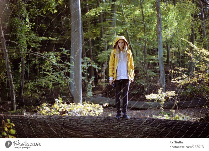 silence. Mensch Natur Jugendliche Pflanze Baum Landschaft Erwachsene Wald gelb Umwelt Junge Frau feminin 18-30 Jahre Beine Körper Schuhe