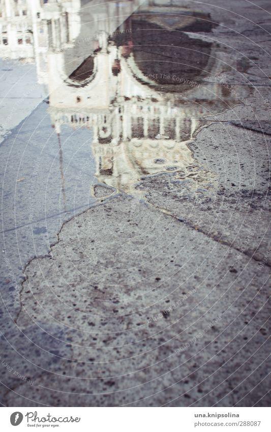 flut Ferien & Urlaub & Reisen Tourismus Wasser Klimawandel Wetter Venedig Italien Stadtzentrum Kirche Marktplatz Bauwerk Architektur Sehenswürdigkeit