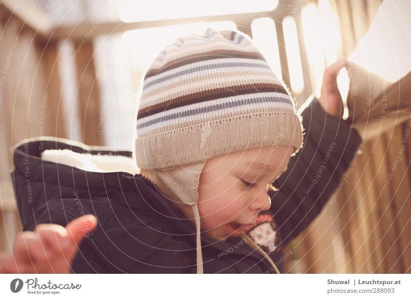 Kid n' Play Mensch Freude Winter Spielen Holz Kopf maskulin Freizeit & Hobby Kindheit Mütze Kleinkind Jacke Kindergarten Kindererziehung Spielplatz Kind