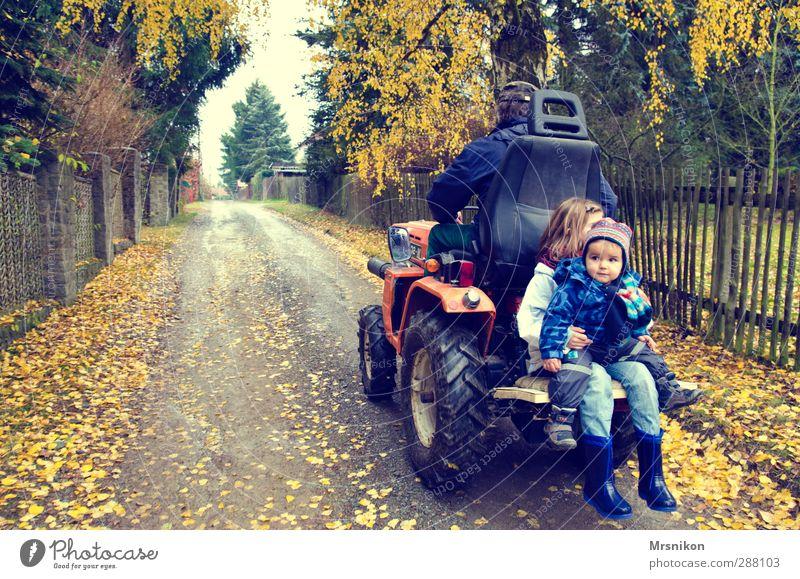Traktor fahren ist so schön Kind Kleinkind Mädchen Junge Männlicher Senior Mann Großvater Familie & Verwandtschaft Kindheit Leben 3 Mensch 1-3 Jahre 8-13 Jahre