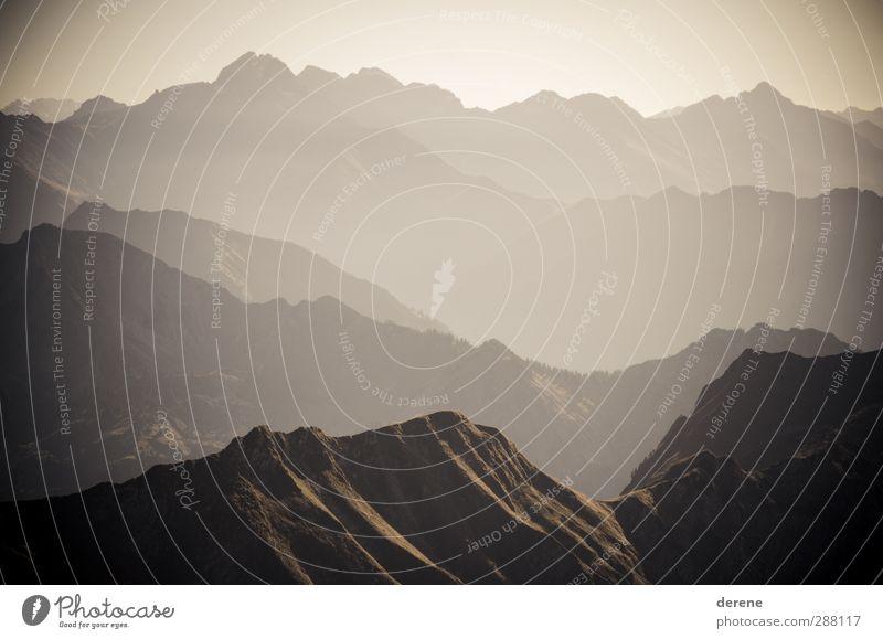 Mountain View Himmel Natur Ferien & Urlaub & Reisen Sommer Sonne Landschaft Ferne Berge u. Gebirge Umwelt Wärme Freiheit braun Felsen Horizont Freizeit & Hobby