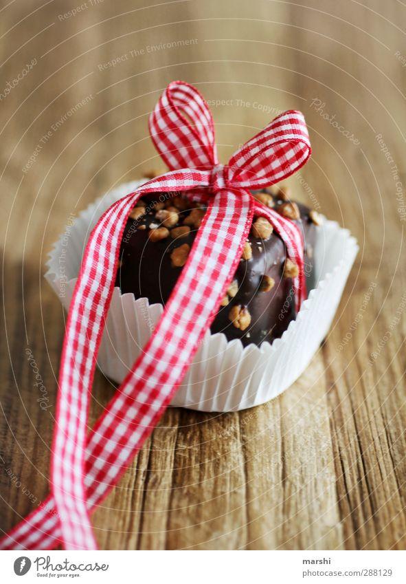 süße Versuchung Weihnachten & Advent schön Essen Lebensmittel Zufriedenheit Ernährung kaufen Geschenk Süßwaren Schokolade kariert Dessert Verpackung Schleife