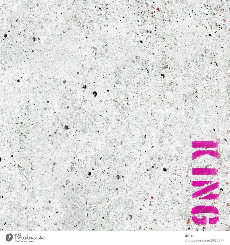 Royale Randerscheinung | Tschingderassabumm Kunst Mauer Wand Beton Schriftzeichen Graffiti fest nackt grau rosa Ausdauer Ordnungsliebe Nervosität ästhetisch
