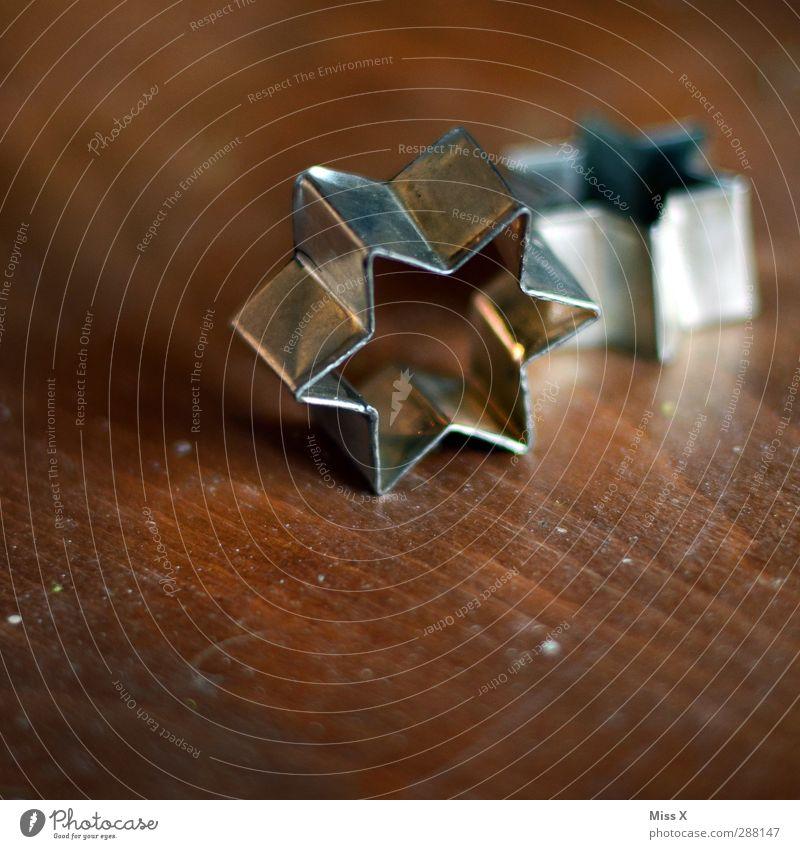Backtag Weihnachten & Advent Holz Ernährung Stern (Symbol) silber Backwaren Teigwaren Plätzchen Backform
