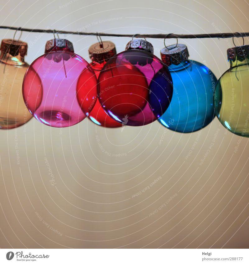 nicht drängeln... Weihnachten & Advent blau schön rot gelb Feste & Feiern braun außergewöhnlich rosa Glas Ordnung Häusliches Leben Dekoration & Verzierung ästhetisch Schnur einfach