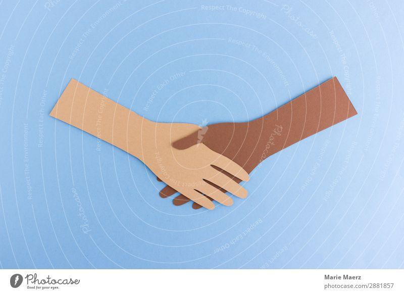 Handschlag Mensch außergewöhnlich Zusammensein braun Freundschaft frei Kommunizieren Kultur Arme Hilfsbereitschaft Freundlichkeit festhalten Team Frieden gut