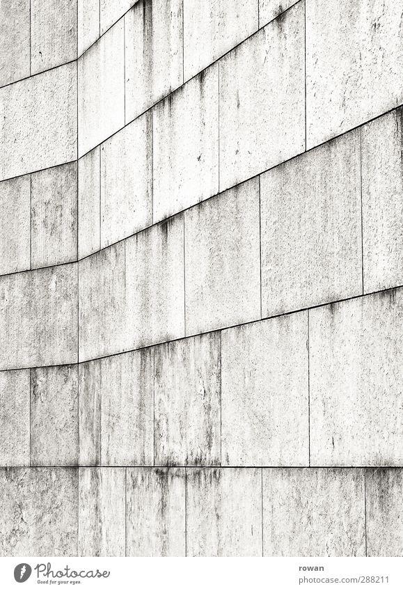 steinern Bauwerk Gebäude Mauer Wand Fassade grau Linie graphisch Stein Steinmauer Fuge Stabilität Rechteck Perspektive Farbfoto Gedeckte Farben Außenaufnahme