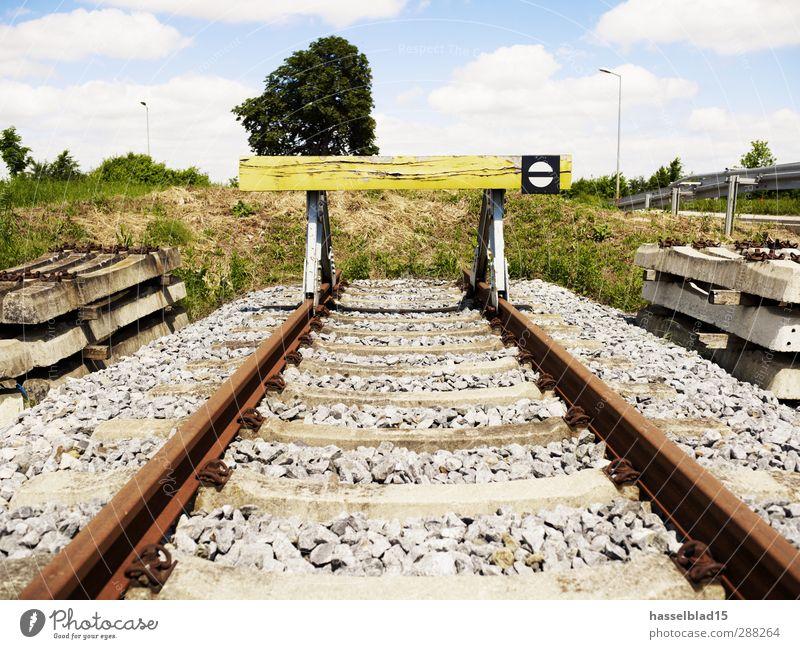 Endstation Berufsausbildung Studium Arbeit & Erwerbstätigkeit Wirtschaft Güterverkehr & Logistik Business Landschaft Verkehrswege Bahnfahren Schienenverkehr