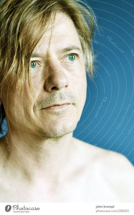 this is me maskulin Mann Erwachsene Gesicht 1 Mensch 30-45 Jahre Blick blond natürlich blau selbstbewußt Willensstärke Vertrauen Neugier Sehnsucht Konzentration