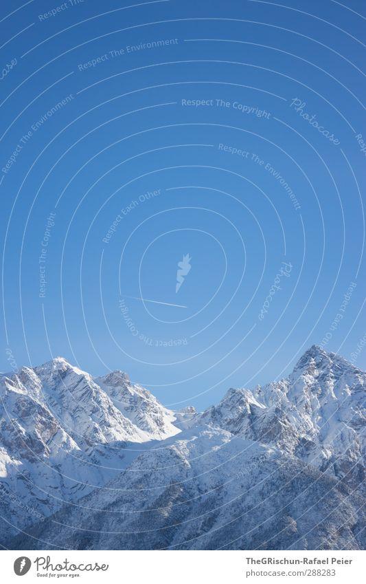 se biuty of se Engadin Himmel blau weiß Landschaft schwarz Wald Berge u. Gebirge kalt Schnee Schönes Wetter Flugzeug Alpen Spitze Gipfel Spuren