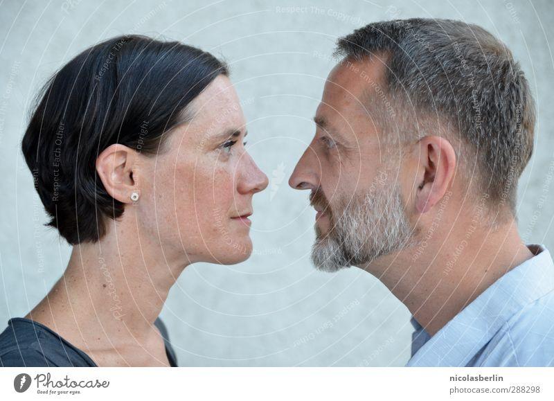 Let me occupy your mind, as you do mine. Flirten Mensch maskulin feminin Frau Erwachsene Mann Paar Gesicht 2 beobachten Kommunizieren Liebe Blick Zusammensein