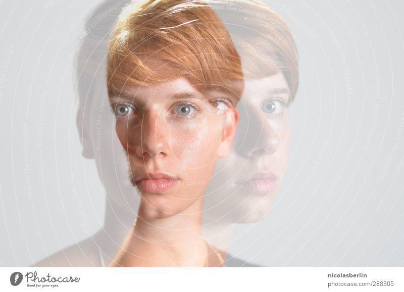 MP46 - Ich bin ein Geist der an dir klebt! schön feminin androgyn Junge Frau Jugendliche Paar 1 Mensch 2 18-30 Jahre Erwachsene rothaarig kurzhaarig einzigartig