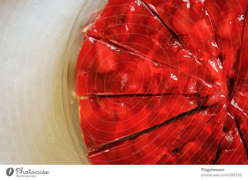 Erdbeerboden Freude Erotik Essen Frucht Lebensmittel Ernährung süß Appetit & Hunger Kuchen Backwaren Festessen Erdbeeren Torte Teigwaren Dessert Gabel