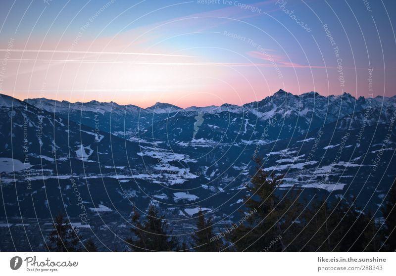 Panorama fürs Büro Ferien & Urlaub & Reisen Tourismus Ausflug Ferne Freiheit Winter Winterurlaub Berge u. Gebirge Umwelt Natur Landschaft Eis Frost Schnee Hügel