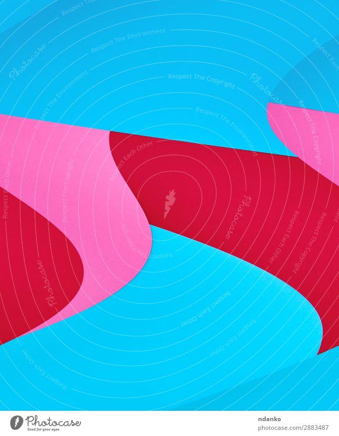 abstrakter Hintergrund aus bunten Formen Design Dekoration & Verzierung Handwerk Kunst Papier hell trendy modern blau rosa rot Farbe Kreativität Element