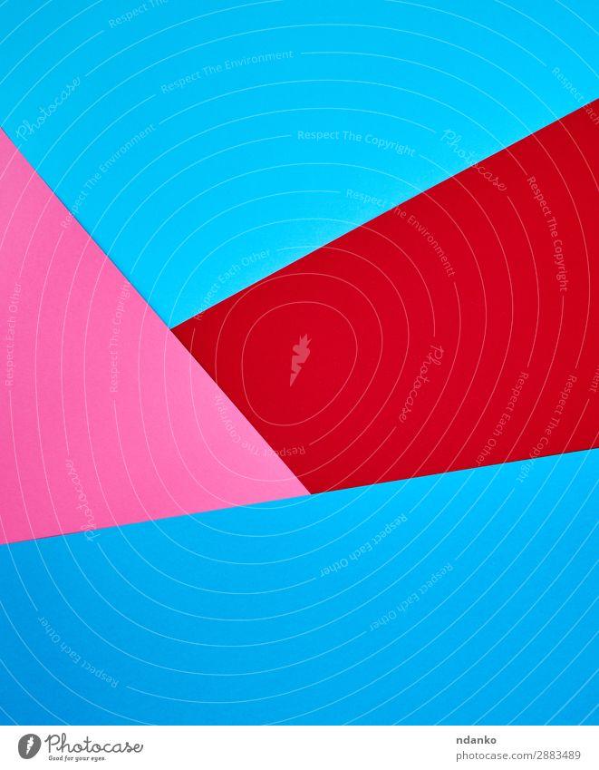 abstrakter Hintergrund aus bunten Formen Stil Design Dekoration & Verzierung Handwerk Kunst Papier hell trendy modern blau rosa rot Farbe Kreativität Element