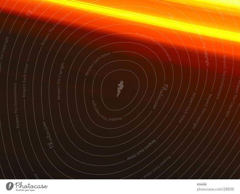 Lichtspiel Tunnel Geschwindigkeit Unschärfe schwarz Lampe obskur orange Farbe