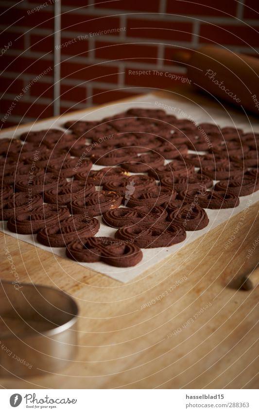 Weihnachtsbäckerei Plätzchen Teigwaren Backwaren Dessert Süßwaren Ernährung Bioprodukte Diät Reichtum Häusliches Leben Tisch Küche Handwerk genießen