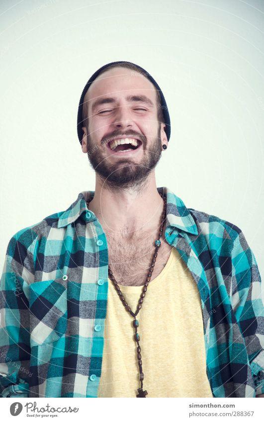 Lachen Lifestyle Stil Freude Bildung Schüler Berufsausbildung Azubi Praktikum Studium lernen Student sprechen Feierabend maskulin 1 Mensch 18-30 Jahre