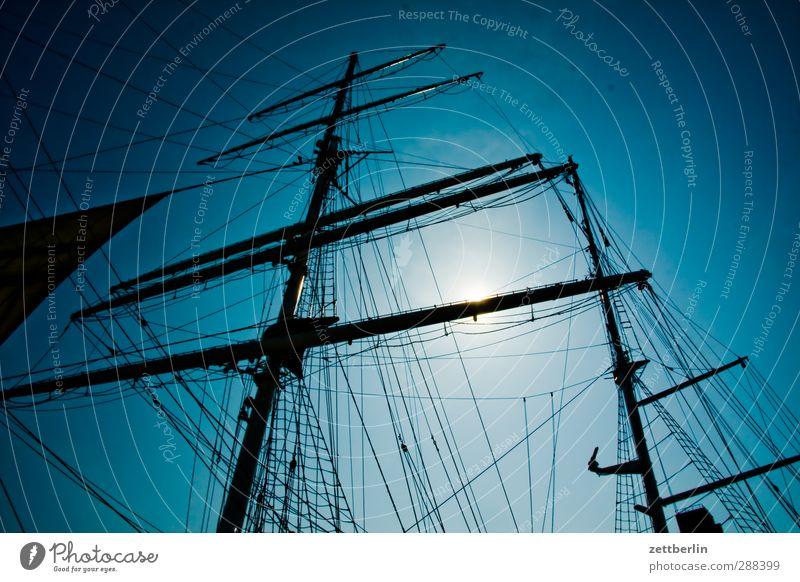 Segeln Umwelt Natur Landschaft Himmel Wolkenloser Himmel Sommer Klima Klimawandel Wetter Schönes Wetter Schifffahrt Kreuzfahrt Jacht Segelschiff Seil Freude