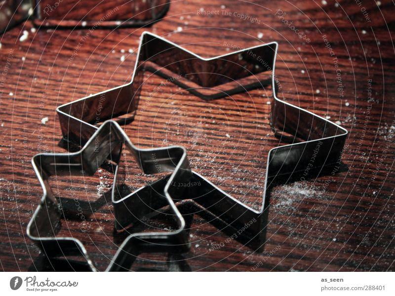 Weihnachtssterne Weihnachten & Advent Freude Winter Wärme Essen Schnee Holz Feste & Feiern braun Linie Zusammensein Metall Dekoration & Verzierung authentisch