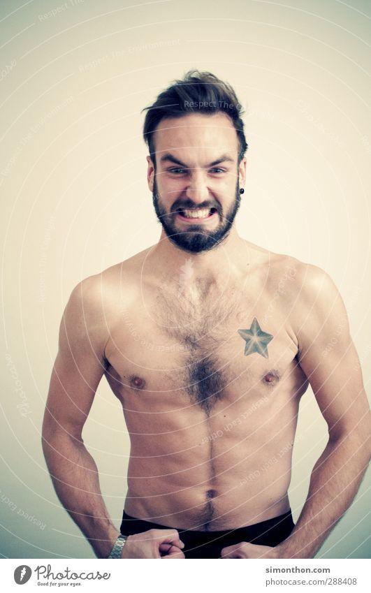 Kraftpaket Mensch Jugendliche Erwachsene nackt Sport Bewegung 18-30 Jahre Stimmung Gesunde Ernährung Körper maskulin Kraft Energie Fitness Tattoo sportlich