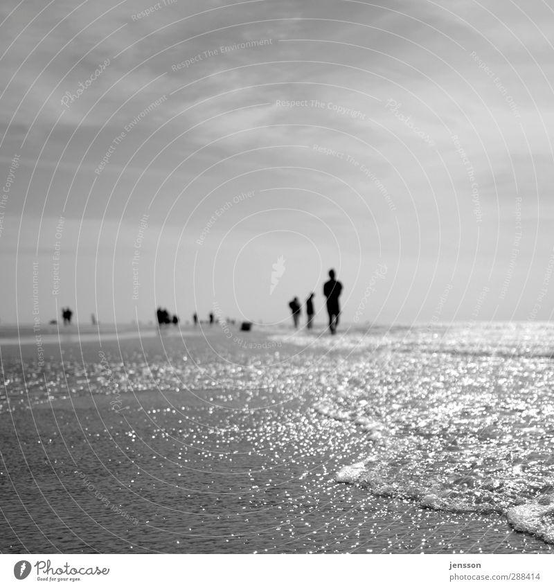 it's in the water Wohlgefühl Erholung Ferien & Urlaub & Reisen Ausflug Freiheit Strand Meer Wellen Mensch Menschengruppe Schönes Wetter Nordsee genießen
