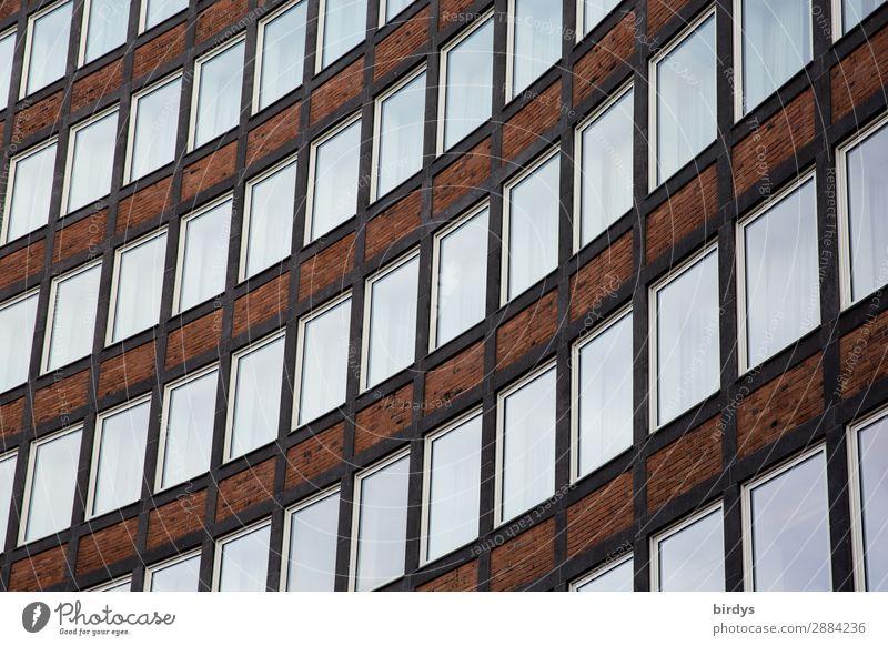 einswiesandere Wohnung Haus Hochhaus Architektur Bürogebäude Fassade Fenster Stein Glas Linie authentisch Stadt Bildung Business Kapitalwirtschaft