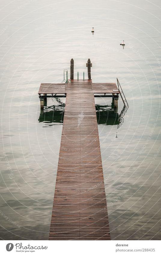 Steg Natur Ferien & Urlaub & Reisen Wasser Meer Einsamkeit ruhig Ferne Umwelt Gefühle grau Küste träumen Stimmung braun Wellen Zufriedenheit