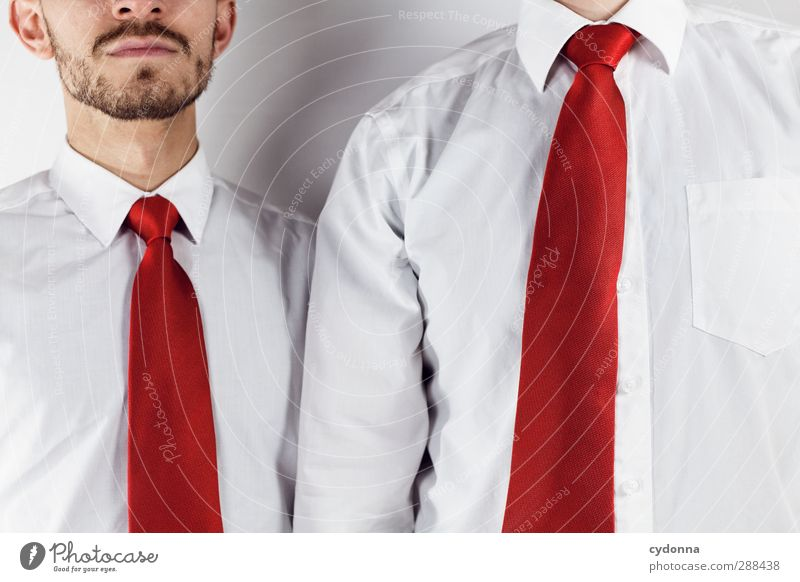 Kollegen Mensch Jugendliche Mann rot Junger Mann Erwachsene Arbeit & Erwerbstätigkeit Business Erfolg Wachstum Bekleidung planen Beruf Team Bart Geldinstitut
