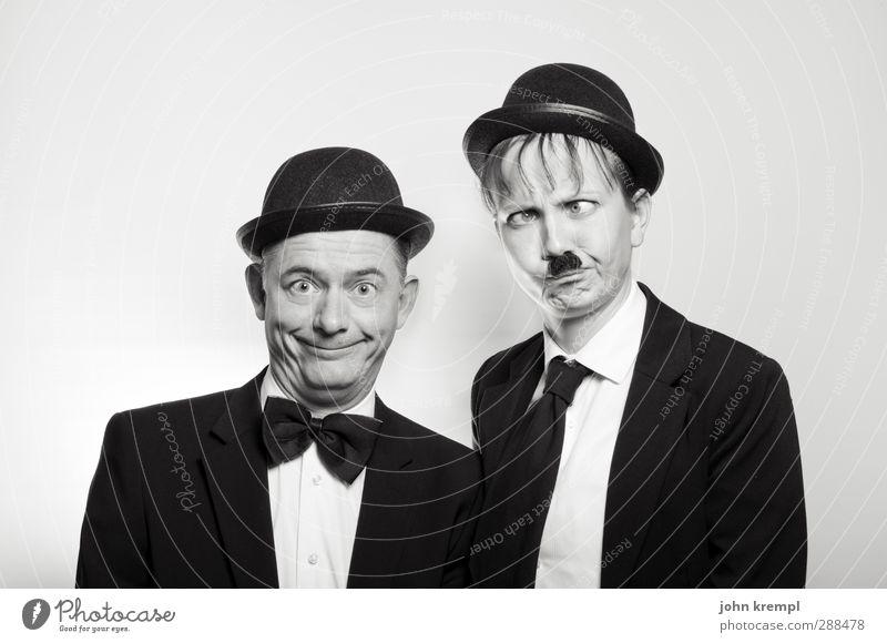 Stan Krempl & Pepe Hardy Mensch Mann Erwachsene lustig Paar Freundschaft Zusammensein maskulin verrückt 45-60 Jahre Team Filmindustrie historisch bizarr Teamwork trashig