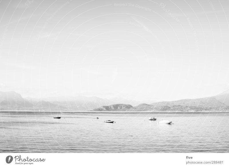 Sommer Himmel Natur Ferien & Urlaub & Reisen Wasser Sonne Landschaft Berge u. Gebirge See Erde Luft Felsen Nebel Schönes Wetter Italien Seeufer