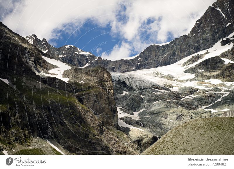 kinder,früher war da ein gletscher Natur Einsamkeit ruhig Landschaft Umwelt Berge u. Gebirge kalt Schnee Eis Klima hoch Schönes Wetter Urelemente Frost Alpen