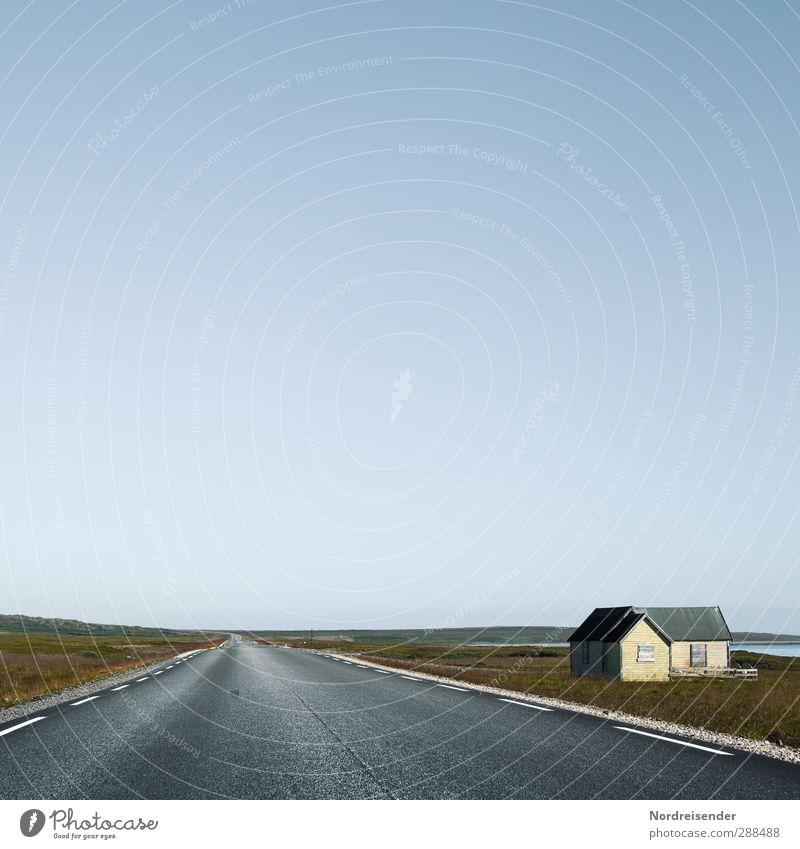 Fahren....immer weiter Himmel Meer Landschaft Haus Ferne Straße Architektur Freiheit Küste Gebäude Stimmung Häusliches Leben Schönes Wetter fahren Hügel