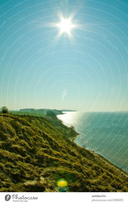 Mönchgut Umwelt Natur Landschaft Pflanze Himmel Wolkenloser Himmel Horizont Sommer Klima Klimawandel Wetter Schönes Wetter Hügel Küste Bucht Ostsee Meer See