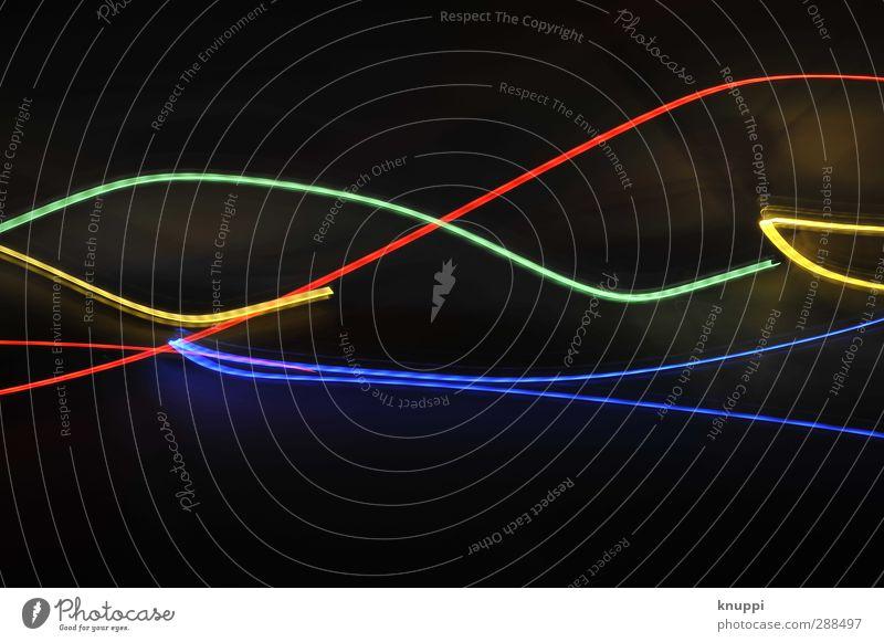 bunt blau grün rot schwarz gelb Lampe Kunst außergewöhnlich Energiewirtschaft Geschwindigkeit leuchten Telekommunikation Technik & Technologie Internet