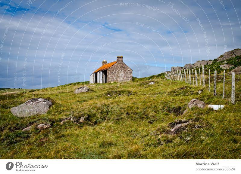 Red Point Beach Ferien & Urlaub & Reisen Ausflug Berge u. Gebirge Natur Landschaft Gras Sträucher Moos Hügel Großbritannien Schottland Europa Haus Zaun