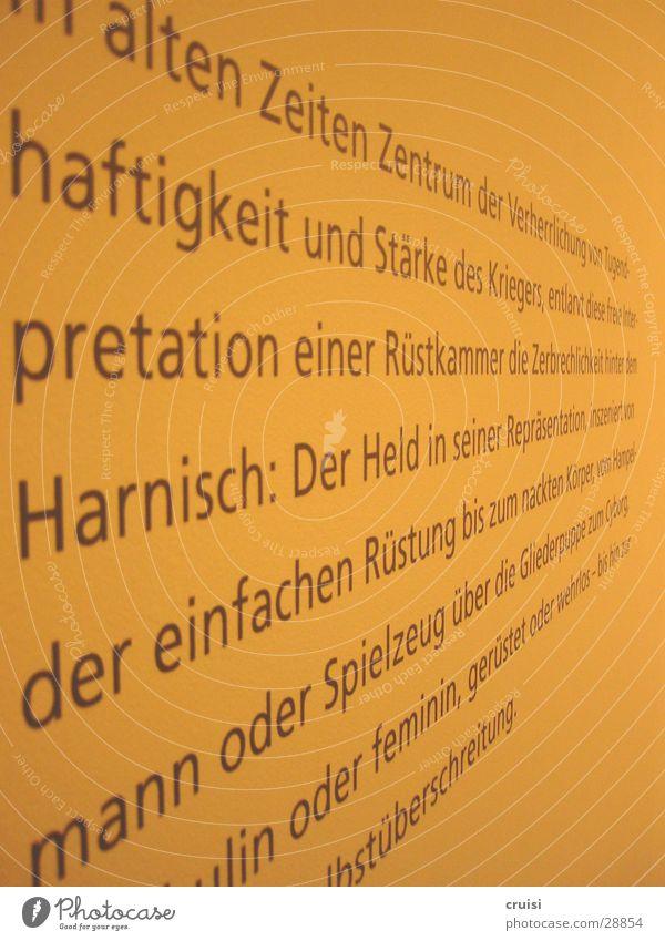 Wandspruch Kunst Perspektive Buchstaben Text Redewendung Literatur